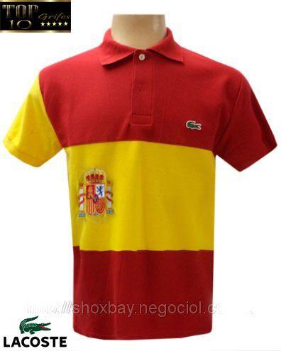 ee705d5c187 Camisa polo Lacoste Países - Espanha - top10grifes